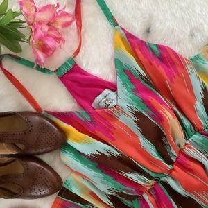 JUDITH MARCH • Tropical Razor Back Maxi Dress